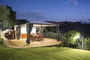 GAZEBO IN FERRO LINE GREY