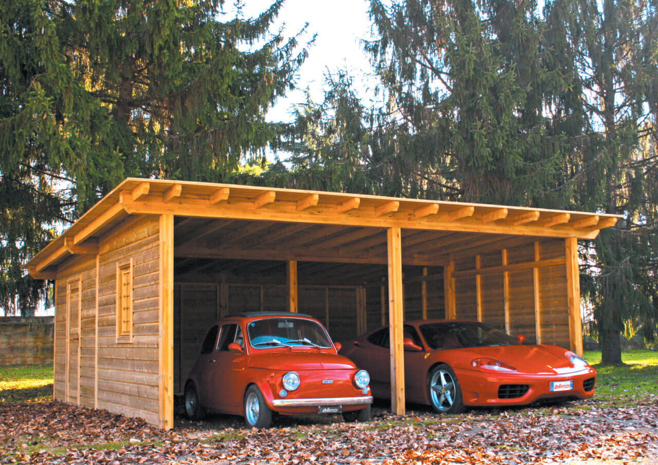 GARAGE IN LEGNO DOUBLE