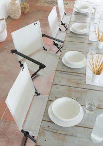 Tavolo e sedie giardino